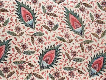 装飾用布「花と葉の散らし模様」
